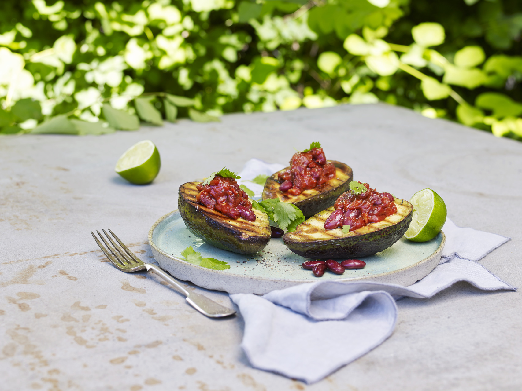 Tex mex-grillet avocado