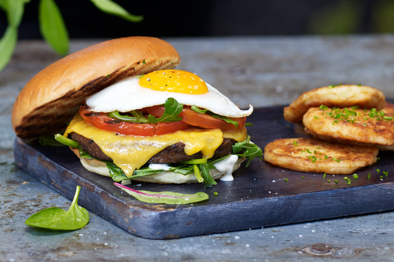 Meatish Breakfast Burger